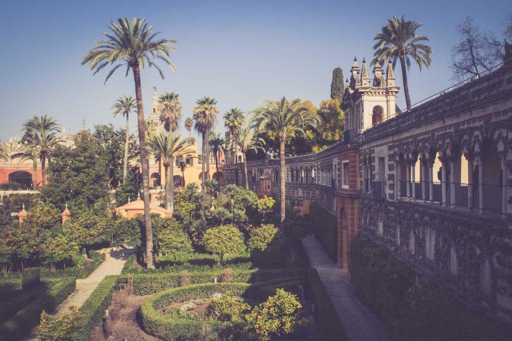Sevilla - Alcazar Palast Garten