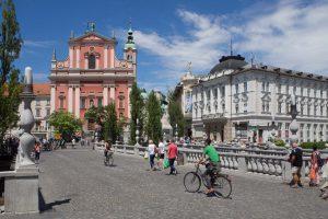 Die drei Brücken in Ljubljana, Slowenien