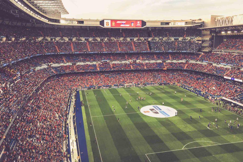 Estadio Santiago Bernabéu, Madrid - Anzeigetafel