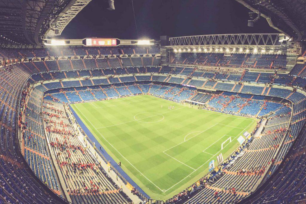 Estadio Santiago Bernabéu, Madrid - Nachts