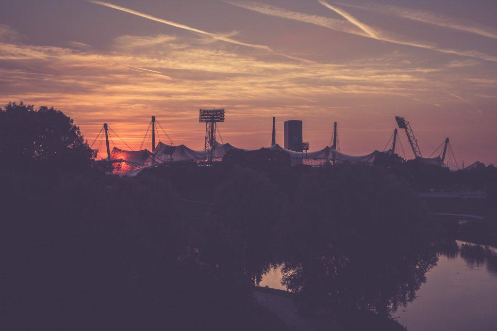 Olympiastadion München - Sonnenuntergang