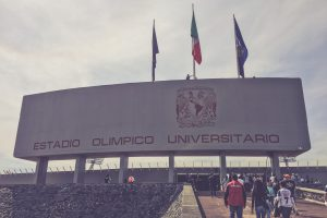 Estadio Olimpico Universitario, Mexico City - Haupteingang