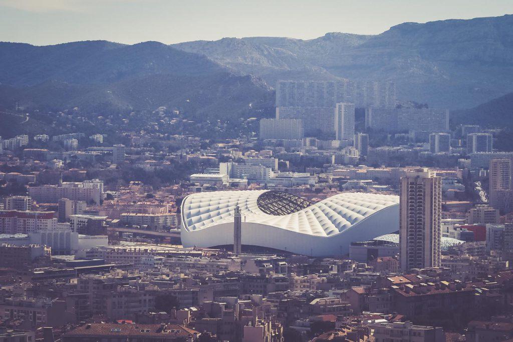 Stade Vélodrome, Marseille - Luftaufnahme