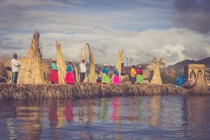 Titicacasee, Schwimmende Inseln der Uros