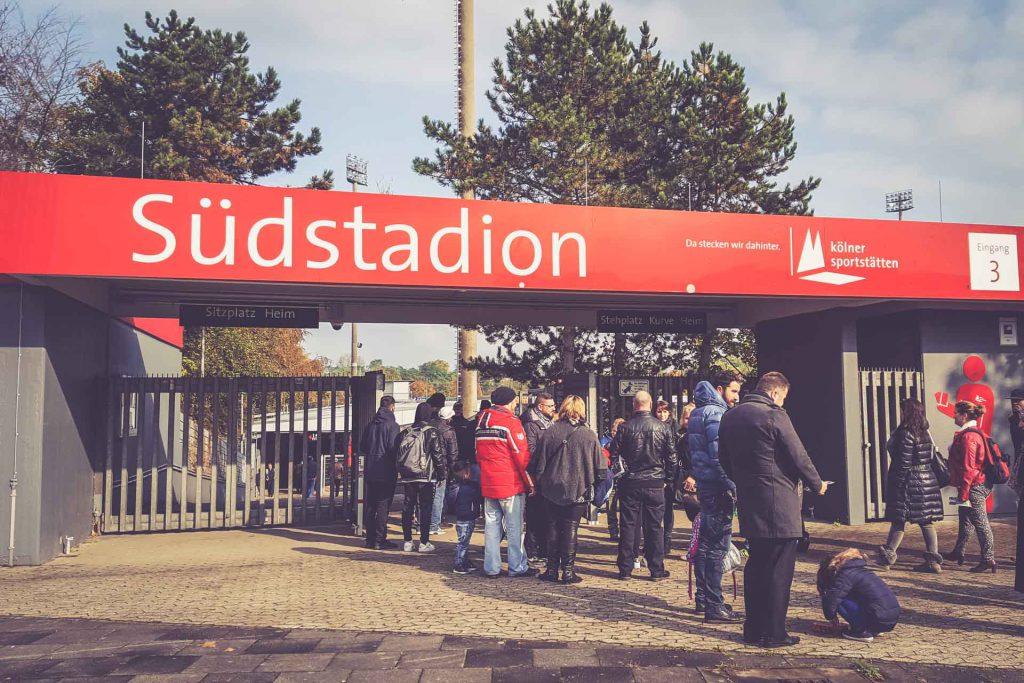 Südstadion, Köln - Eingang
