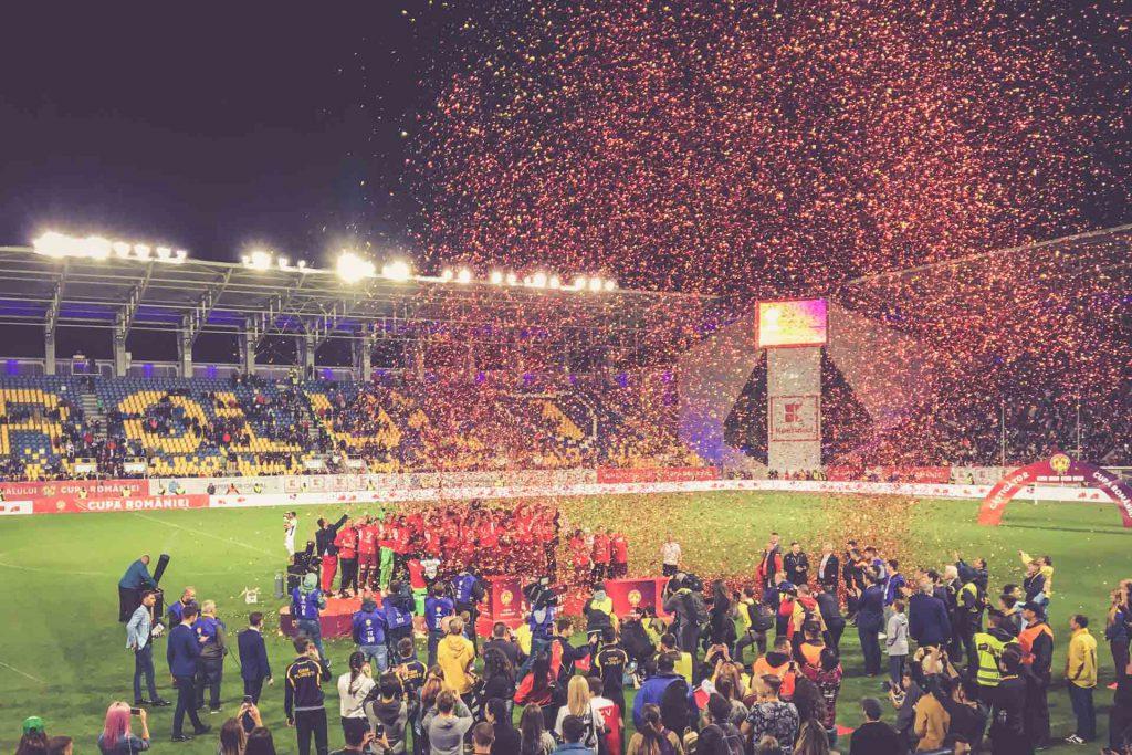 Stadionul Ilie Oană, Ploiești - Siegerehrung