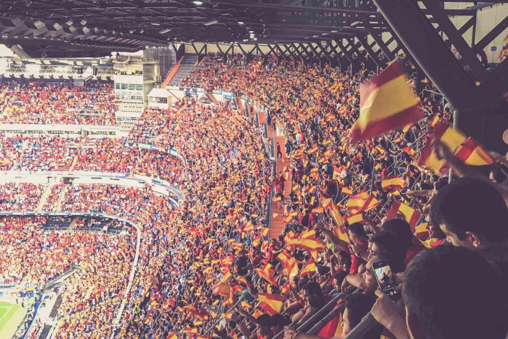 Estadio Santiago Bernabéu, Madrid - Fankurve