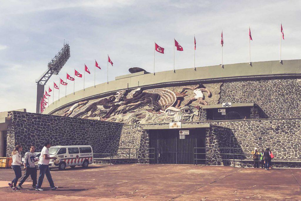 Estadio Olimpico Universitario, Mexico City - Eingang
