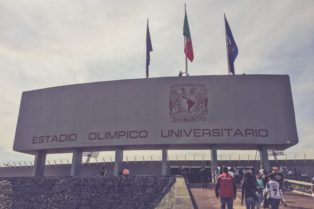 Estadio Olimpico Universitario, Mexico City - Haupteingang