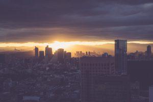 Sonnenuntergang über Mexico City