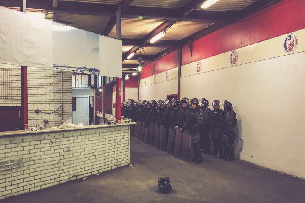Stadion Rajko Mitic, Roter Stern Belgrad Polizeiaufgebot