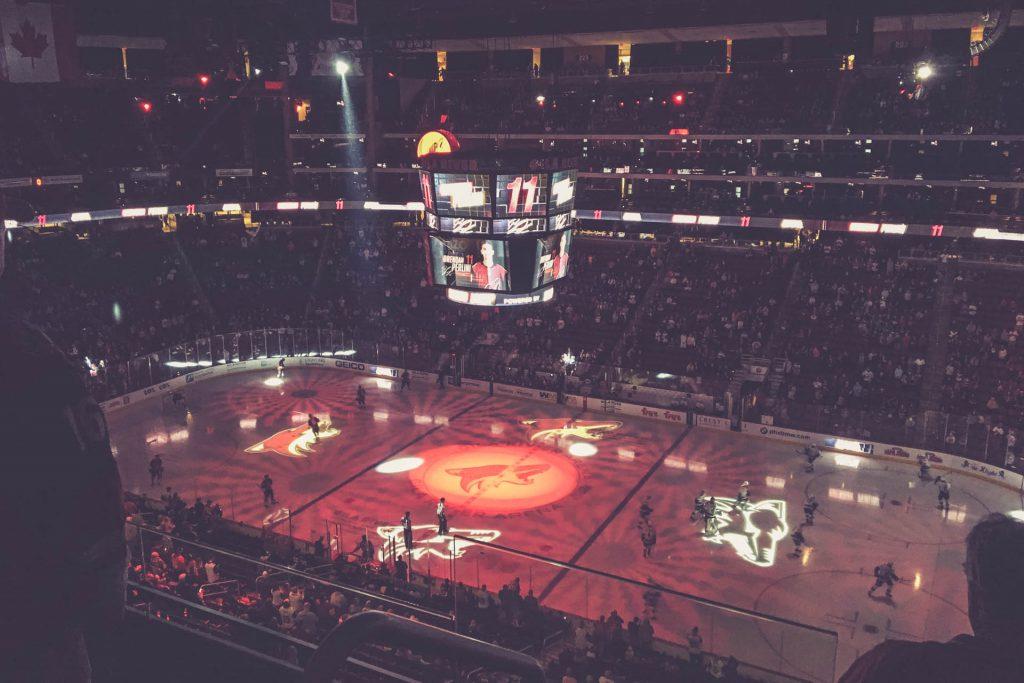 Gila River Arena, Arizona Coyotes Lightshow