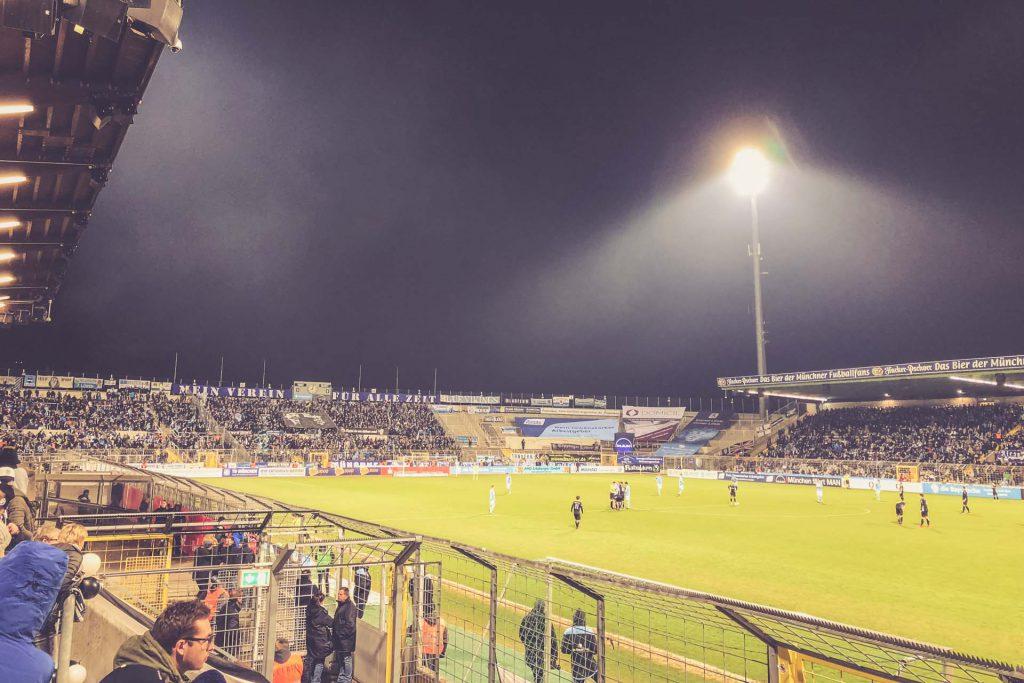 Stadion an der Grünwalder Straße, München - 1860 Fankurve
