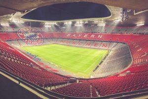 Allianz Arena Innenansicht, FC Bayern München Design