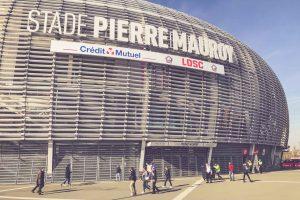 Stade Pierre-Mauroy Schriftzug, OSC Lille - Frankreich
