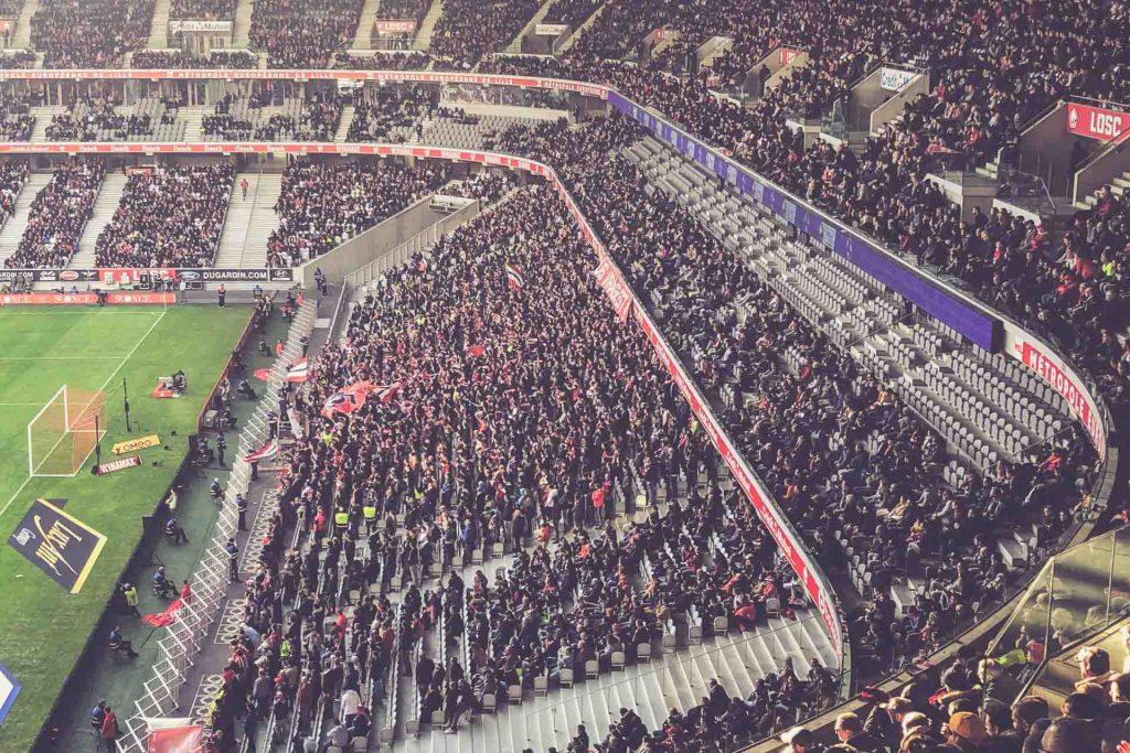 Stade Pierre-Mauroy Fankurve, OSC Lille - Frankreich