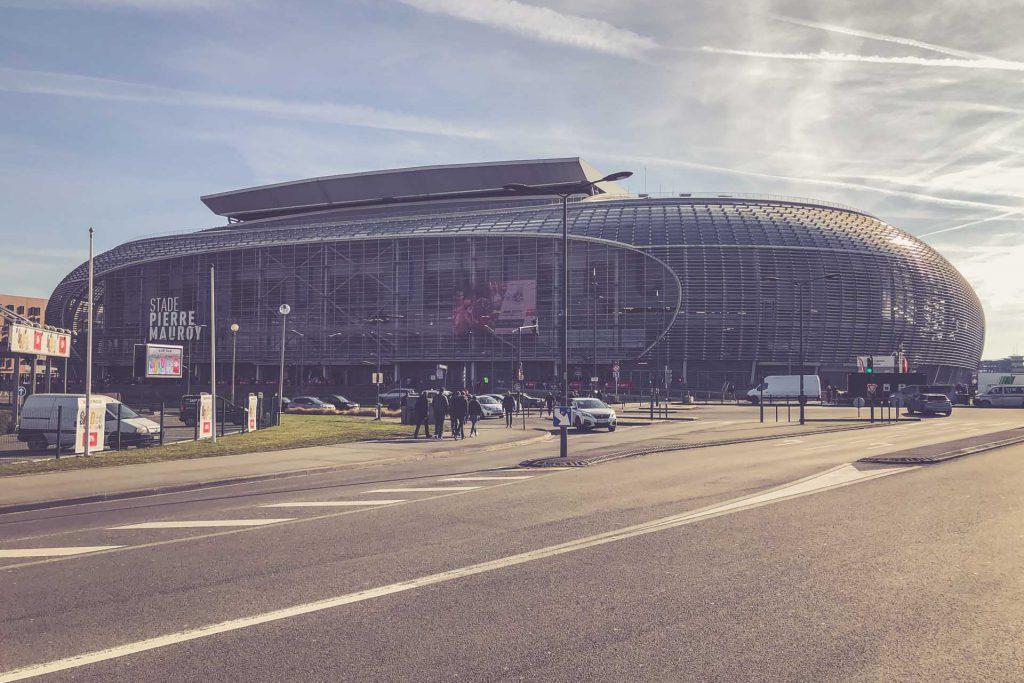 Stade Pierre-Mauroy Front, OSC Lille - Frankreich