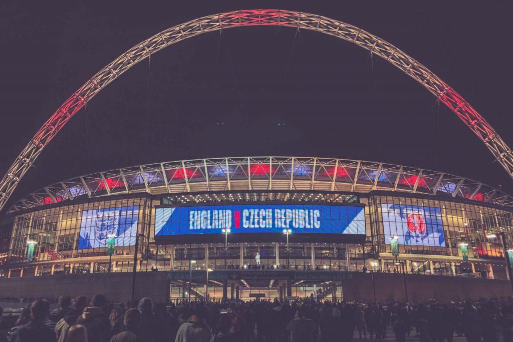 Webley Stadion, London nachts