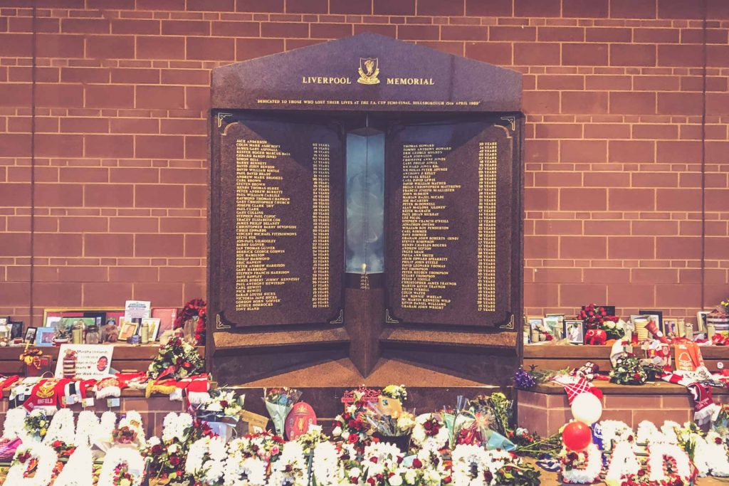 Anfield Road, Liverpool - Hillsborough Memorial