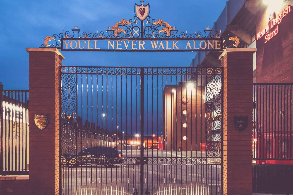 Anfield Road, Liverpool - You´ll never walk alone