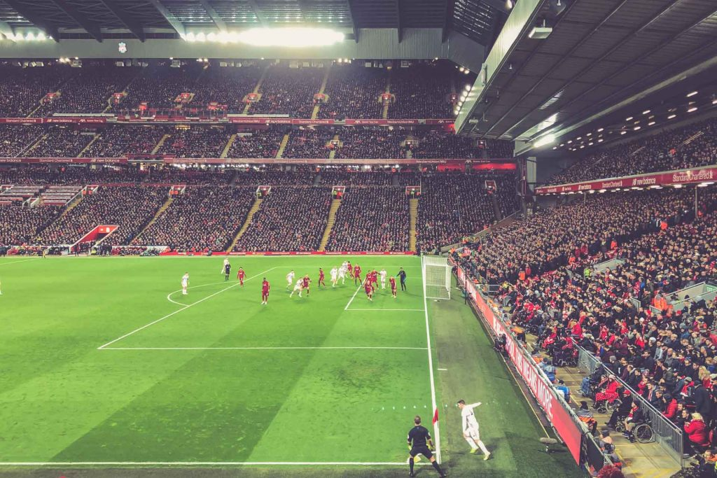 Anfield Road, Liverpool - Sheffield United, Ecke